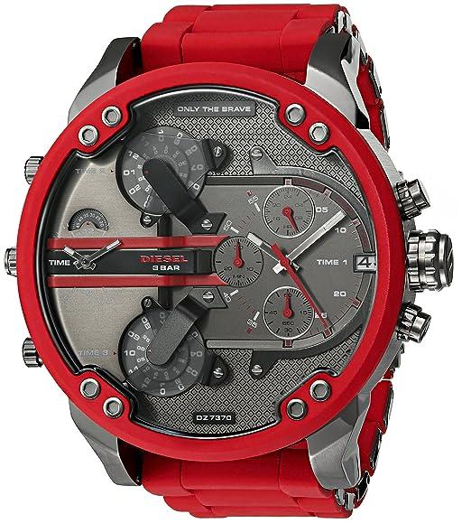 Diesel Reloj analogico para Hombre de Cuarzo con Correa en Silicona DZ7370: Amazon.es: Relojes