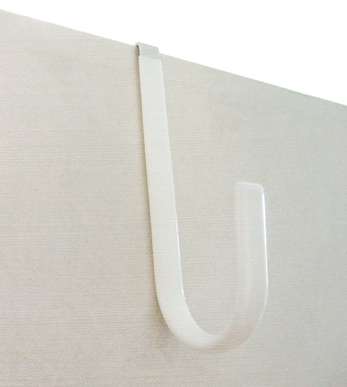 starixx Puerta gancho toalla albornoz blanco (4 unidades)
