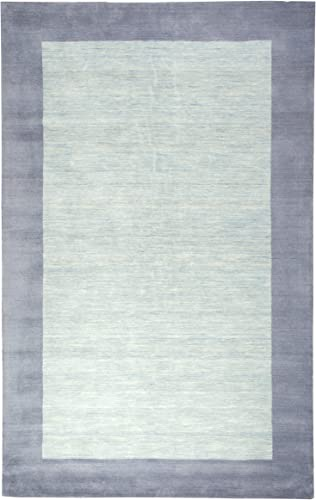 Rizzy Home Platoon Collection Wool Area Rug, 2 x 3 , Light Blue Purple Blue Boarder