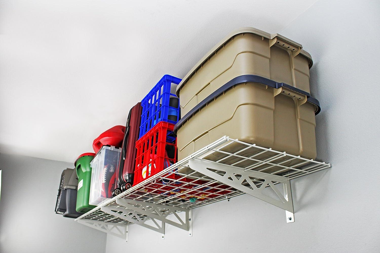 SafeRacks - Wall Shelf, Two Pack (18x48) White SR-WS1 18x48-W