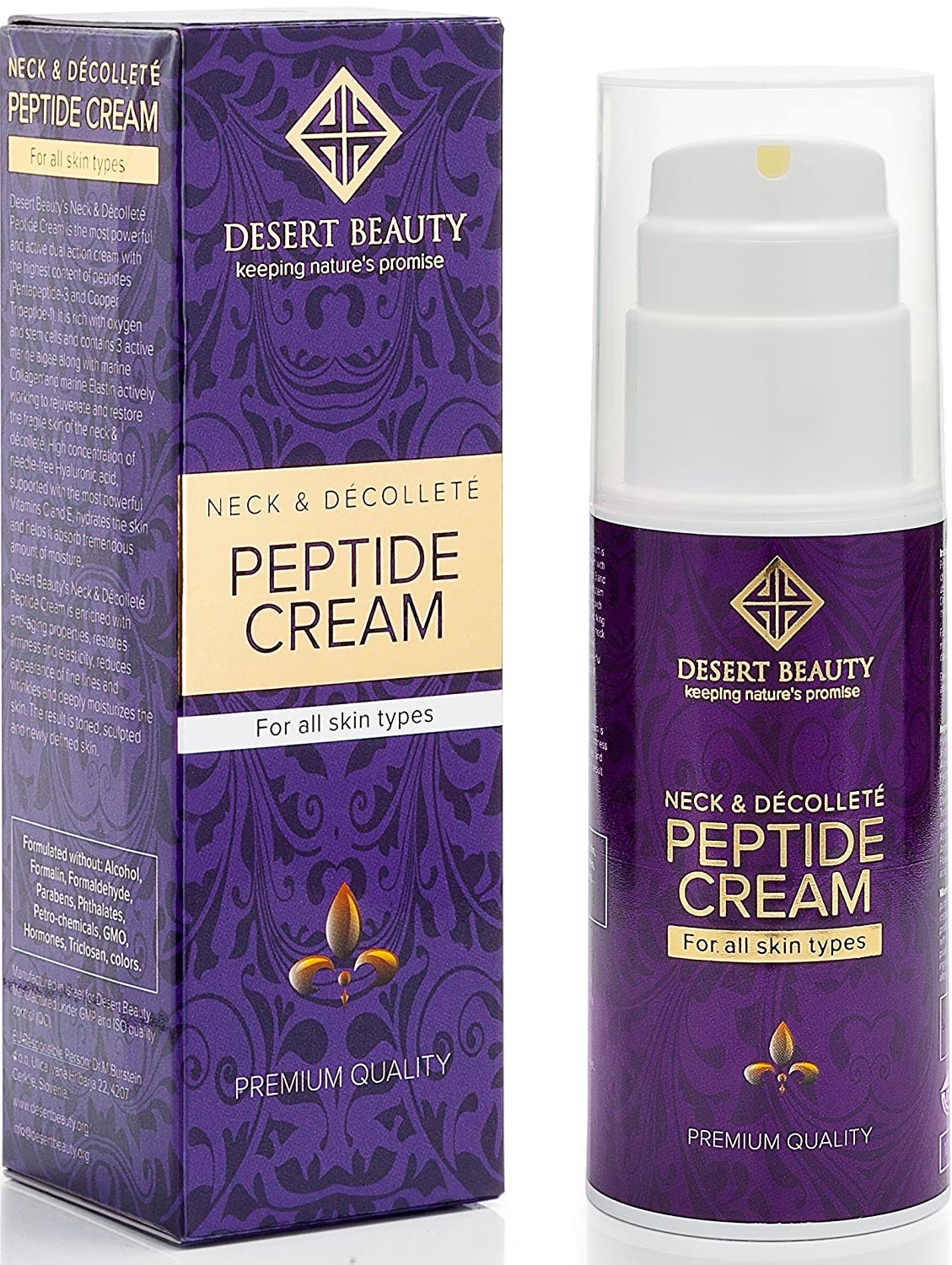 Neck Firming Cream, Anti Aging Moisturizer for Neck & Décolleté