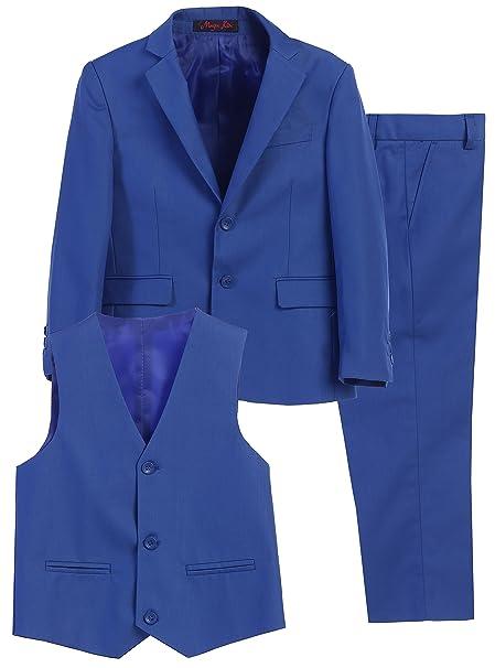 Amazon.com: Magen Kids 3 PC Boys vestir azul traje de ...