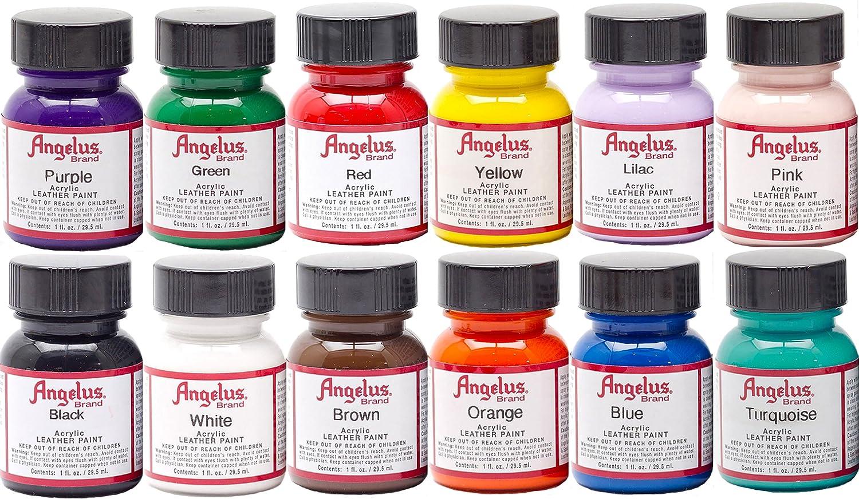 Amazon.com: Angelus Acrylic Leather Paint Starter Kit