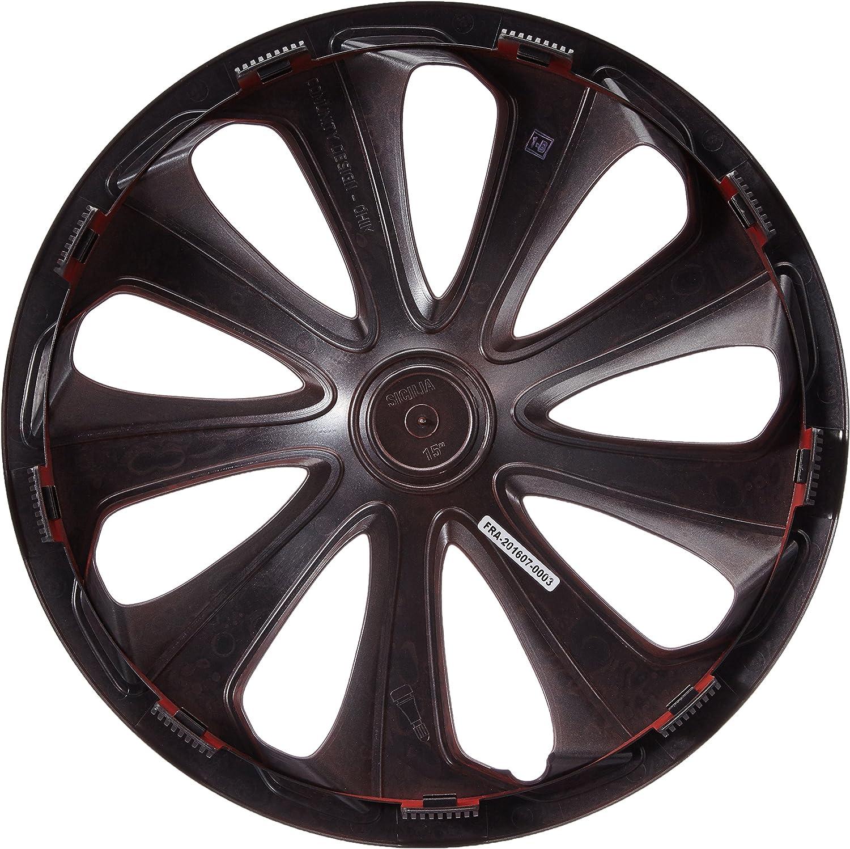 16 Silver//Grey SPARCO SPC1673SVGR Sicilia Wheel Covers Set of 4