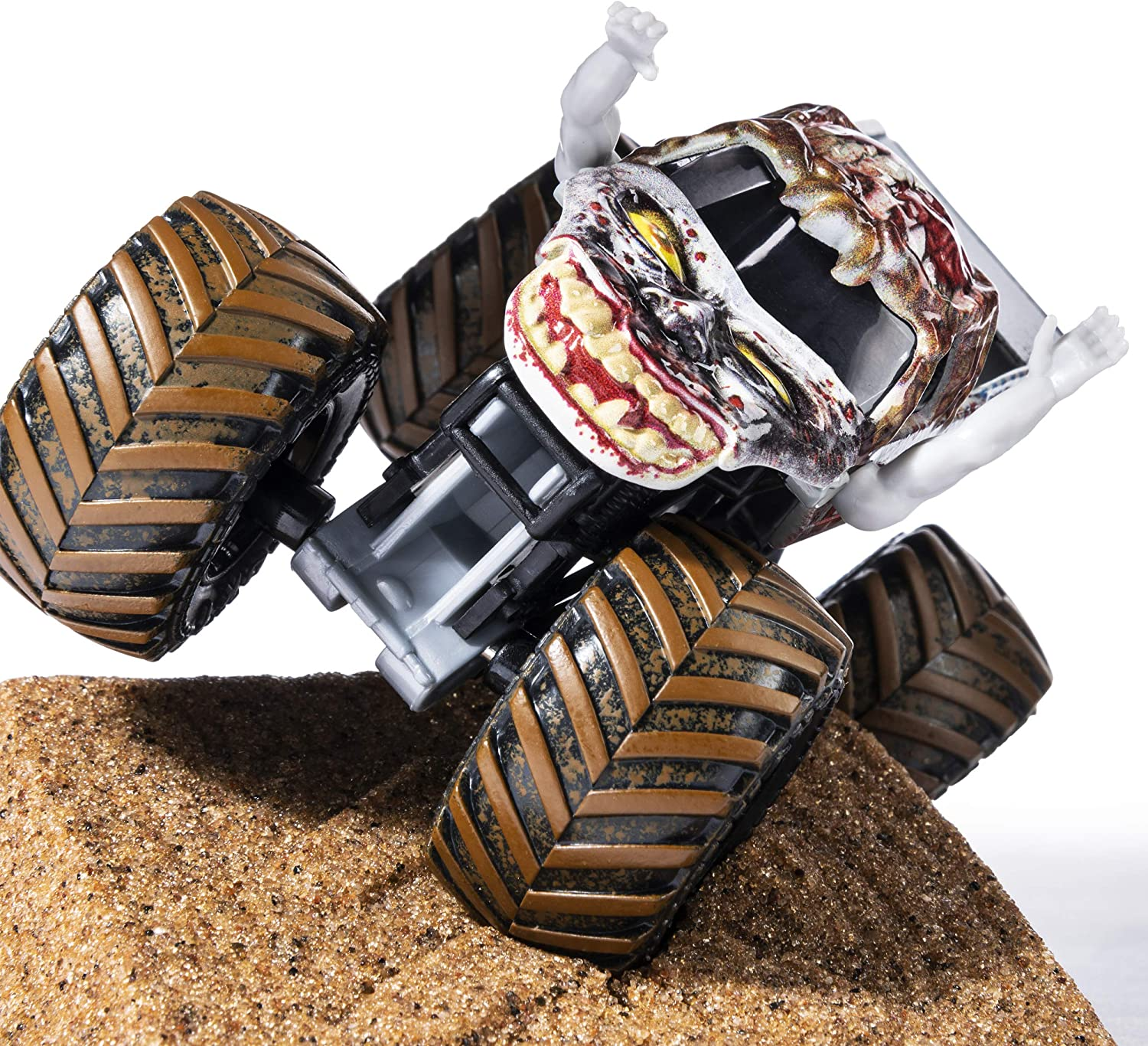 Amazon Com Monster Jam Zombie Monster Dirt Starter Set Featuring 8oz Of Monster Dirt And Official 1 64 Scale Die Cast Monster Jam Truck Multicolored Toys Games