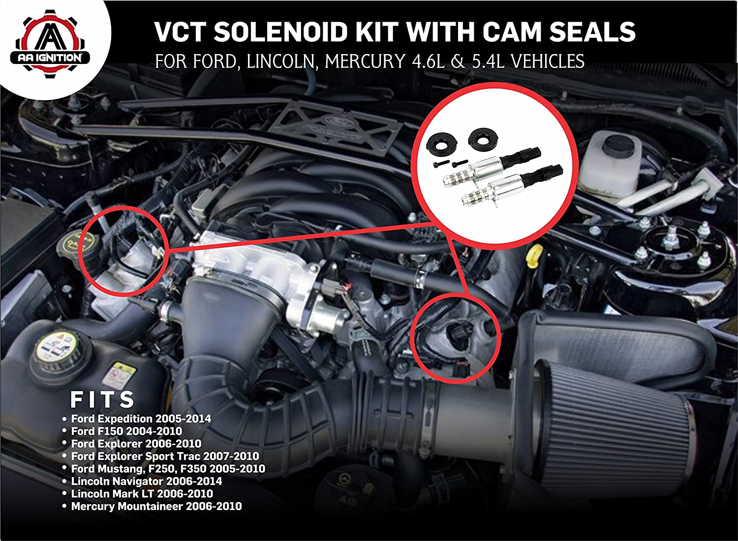 Variable Camshaft Timing Cam Phaser Kit Replaces