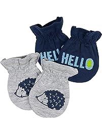Gerber Baby Boy's Baby 2pk Mittens Boy Hedgehog Accessory, Blue, 0-3 months