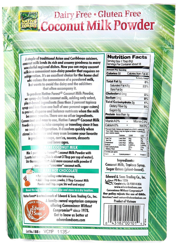 Native Forest - Polvo de leche de coco de Vegan - 5,25 oz.: Amazon.es: Salud y cuidado personal