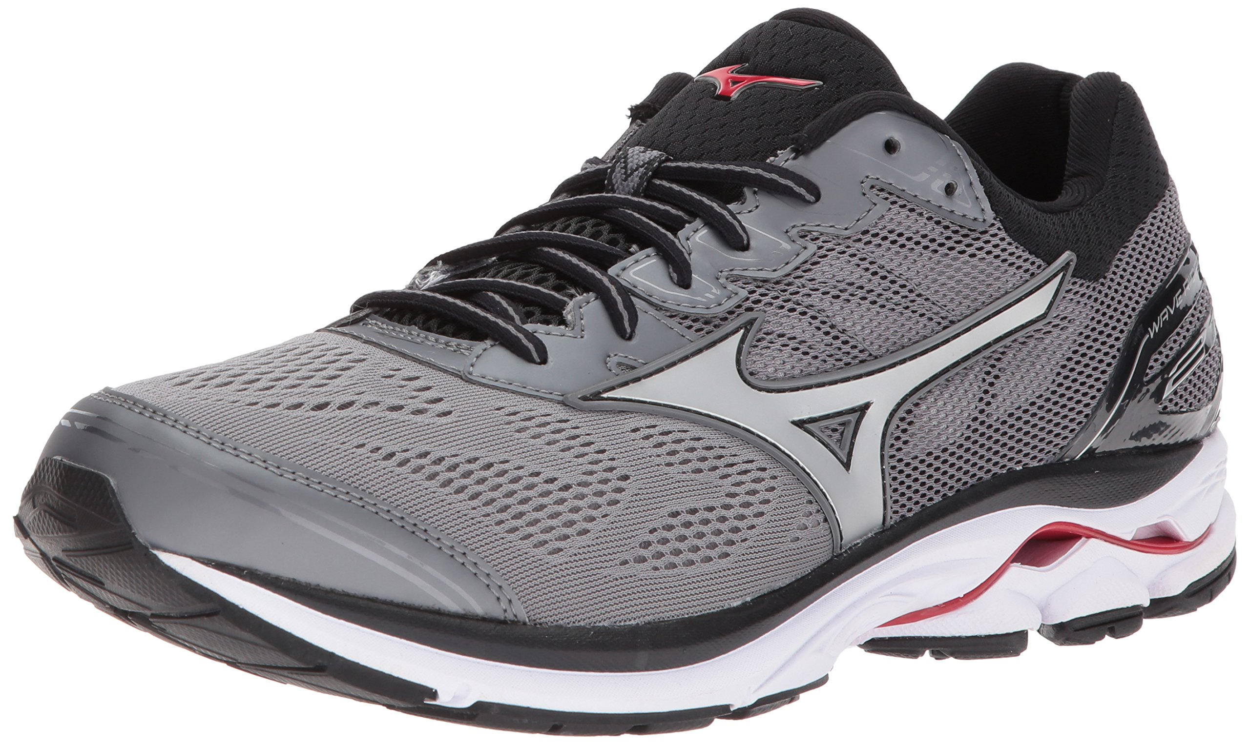 Mizuno Men's Wave Rider 21 Running Shoe, Quiet Shade/Silver, 11 D US by Mizuno