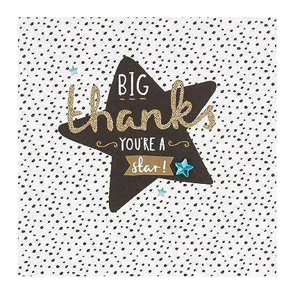Hallmark 25450643 Tarjeta de agradecimiento mediana con ...