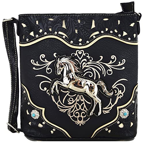 0bae0b2eb5 Western Cowgirl Style Horse Cross Body Handbags Concealed Carry Purses  Country Women Single Shoulder Bag (