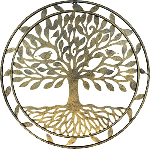 Old River Outdoors Large Metal Tree of Life Wall Decor Art