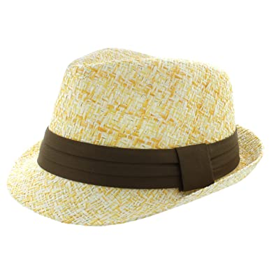 Faddism Fashion Fedora Hat in Yellow at Amazon Men s Clothing store  fdf6f0ae61b2