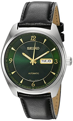Seiko Men S Recraft Series Japanese Automatic Stainless Steel And Black Leather Dress Watch Model Snkn69