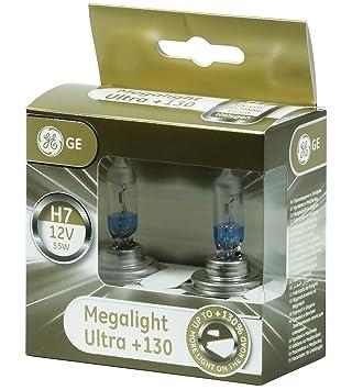 80fd3f0c9bb GE General Electric Megalight Ultra H7 12V +130% lights headlight bulb auto  car bulb headlamp lamp car lamp high power: Amazon.co.uk: Car & Motorbike