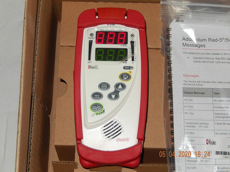 Oxímetro MASIMO Rad5 SpO2 + sensor de dedo