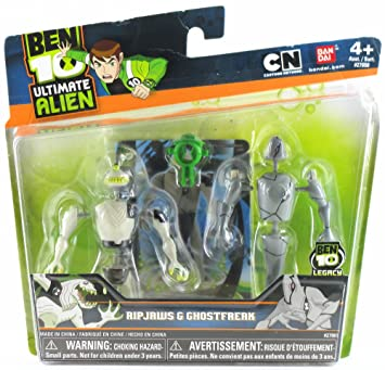Ben 10 En Alien Creation Chamber Mini Figure 2 Pack Ripjaws And Ghostfreak