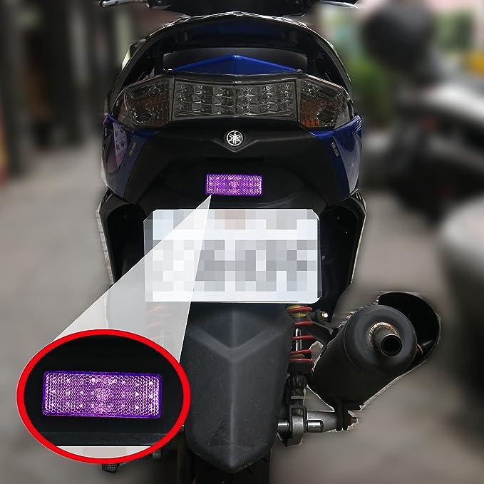 Blanc LGJJJ Bike Reflector Sunshine Kit de r/éflecteurs arri/ère Avant Imperm/éable et s/écurit/é Feux de v/élo de Montagne