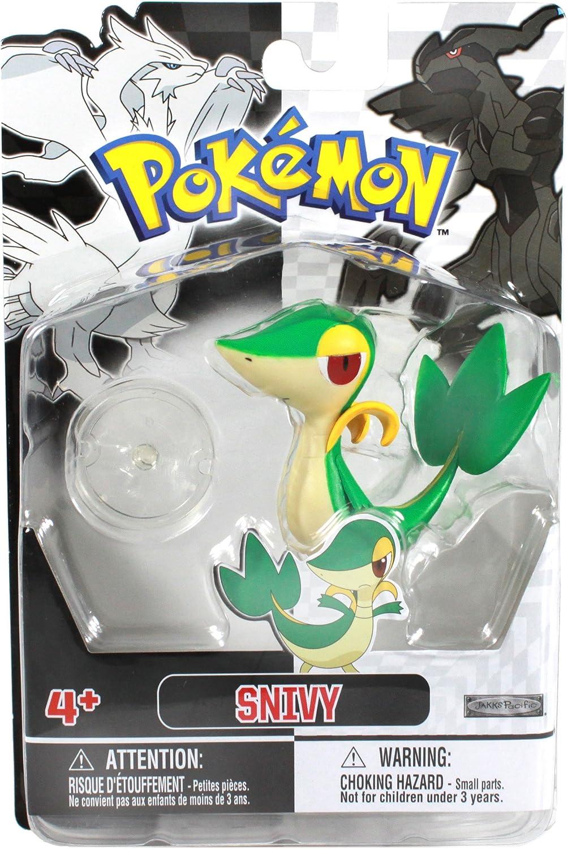 Jakks Pacific Pokémon - Figura de Snivy, color blanco y negro ...
