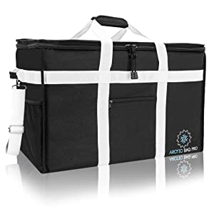 "Arctic Commercial Food Delivery Bag - Insulated Reusable Hot Food Cooler Bag for Home Delivery – Premium Waterproof Food Warmer Bag Ideal for Catering, Restaurants, Uber Eats, Grubhub, Picnic, Postmates, Pizza and , Delivery Drivers with Detachable Dividers 23""x15""x14"" XXL"
