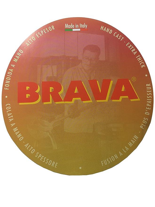 Brava by Crafond 28 cm sartén con mango desmontable de madera y tapa de cristal: Amazon.es: Hogar