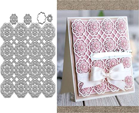 Lace Background Metal Cutting Dies Stencils Scrapbooking Die Cuts Paper Cards
