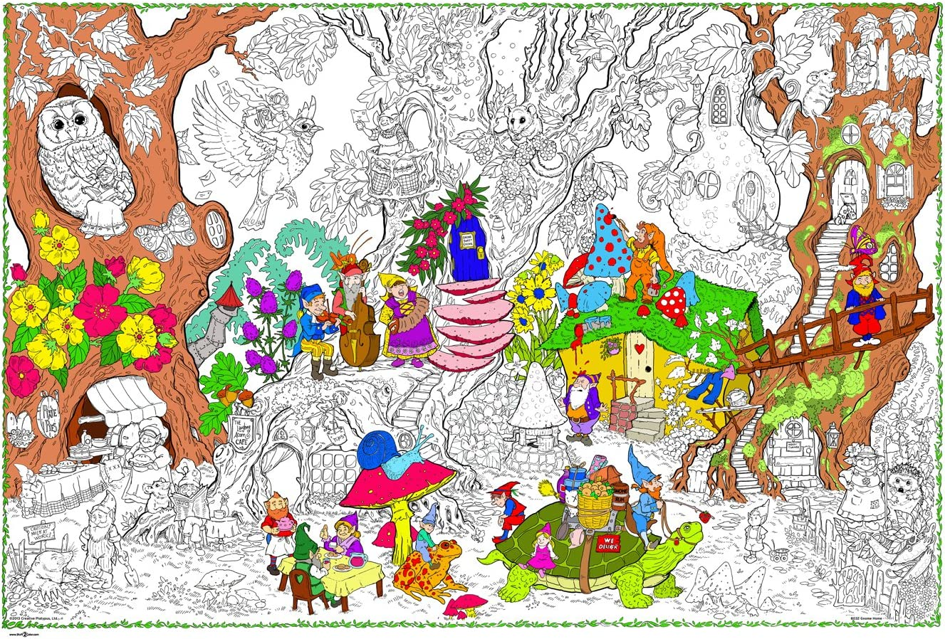 - Amazon.com: Gnome Home - Giant Wall Size Coloring Poster - 32.5