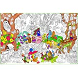 """Gnome Home - Giant Wall Size Coloring Poster - 32.5"""" X 22"""" (Great for Kids, Adults, Classrooms, Care Facilities and Families)"""