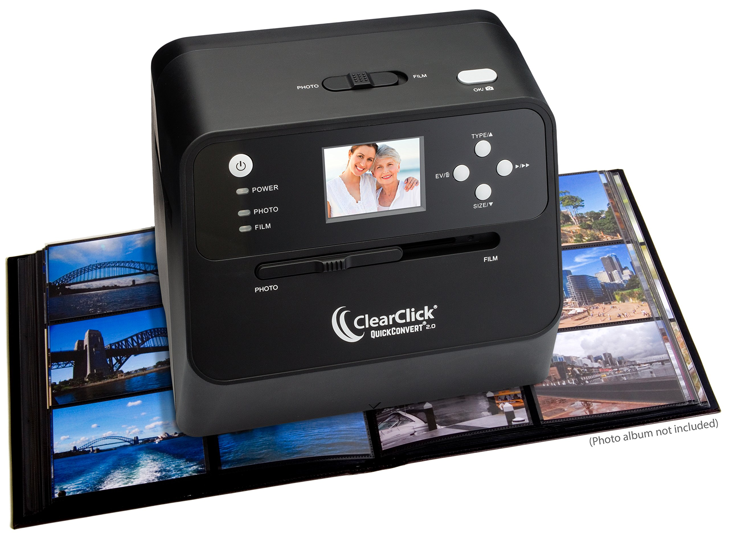 ClearClick 14 MP QuickConvert 2.0 Photo, Slide, and Negative Scanner - Scan 4x6 Photos & 35mm, 110, 126 Film by ClearClick