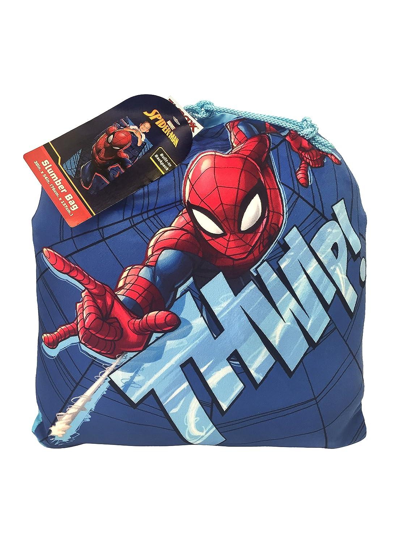 Franco Spiderman Niños Bolsa de dormir con integrado - Juego de mochila, bolsa de dormir 30