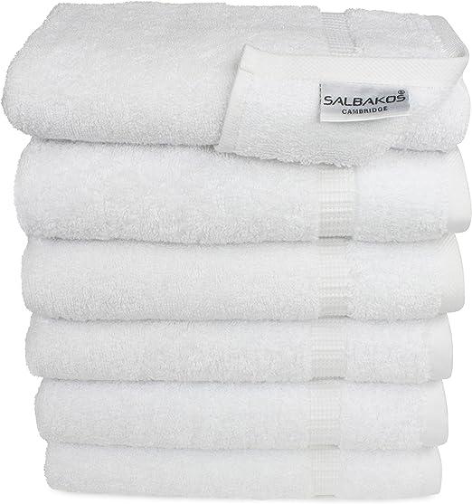 "Gym Salon Hotel 24-480 Cotton Bleach Proof Salon Hand Towels White 13/""x30/"""