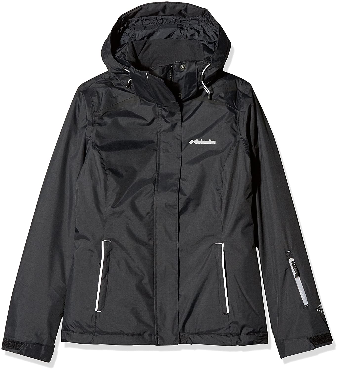 Columbia Chaqueta impermeable para mujer, On the Slope Jacket, Nailon, Negro, Talla M, 1748321