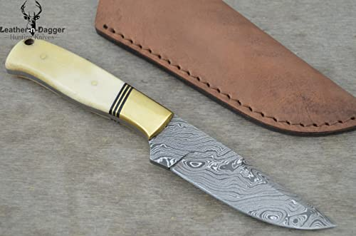 Leather-n-Dagger Offer SALE Professional Custom Handmade Damascus Steel Hunting Knife Great Gift LD146