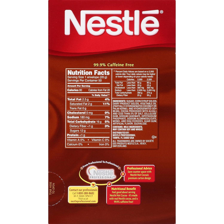 Amazon.com : Nestle Hot Cocoa Mix, Rich Chocolate, 50 Count, 0.71 ...