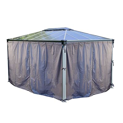 Martinique 4300 Gazebo Curtain Set - 4 Piece : Garden & Outdoor