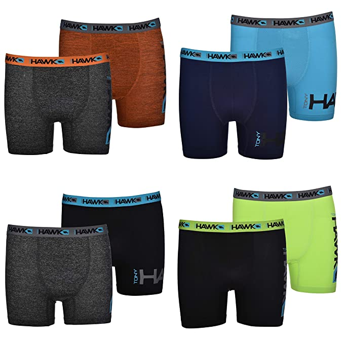 f51d496fee366 Tony Hawk Boys' Boxer Briefs 8-Pack Performance Dri Fusion Tech ...