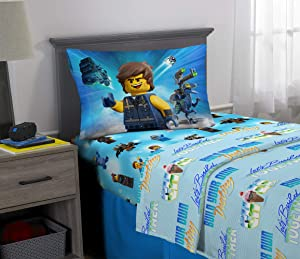 Franco Kids Bedding Super Soft Microfiber Sheet Set, 3 Piece Twin Size, Lego Movie 2