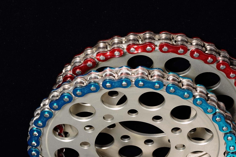 EK Motor Sport Rivet Connecting Link for 530 ZVX3 NX-Ring Chain Metallic Red EK 530ZVX3 CL MR RVT MLJ