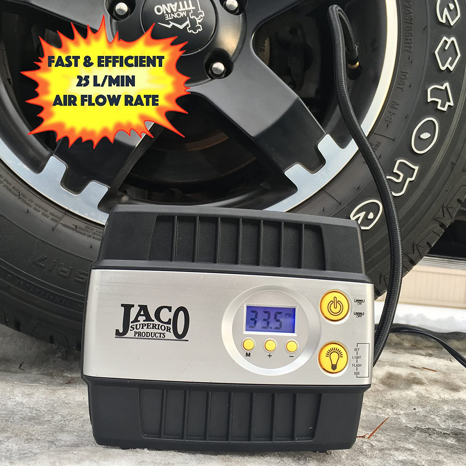 6. JACO SmartPro Mini Air Compressor - Best Mini Air Compressor