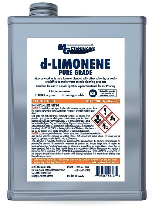 MG Chemicals 433 – 4L 4 L d-Limonene (Pure Grade) 3d impresión ...