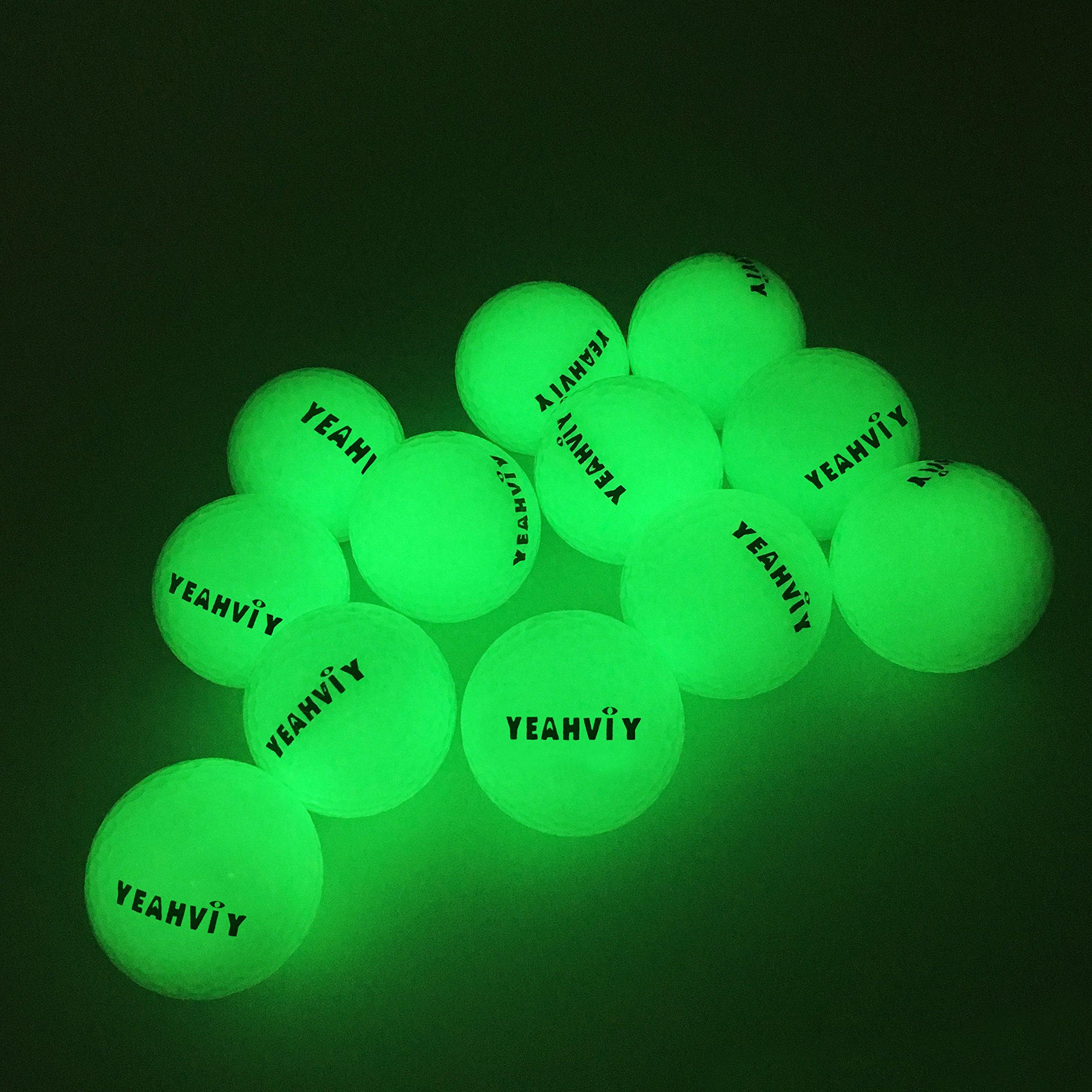 Yeahviy Night Golf Balls,Best Hitting Ultra Bright Long Lasting Reusable Bright Night Glow Golf Ball