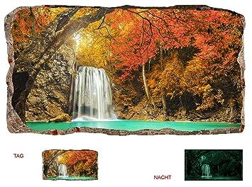 Startonight 3D Tapete Wasserfall Im Wald, Wandmalerei Bild An Der Wand  Großformat Modern Muster Dekorative