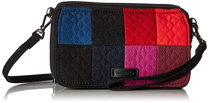Vera Bradley Iconic Rfid All in One Crossbody Vera, Winter Patchwork