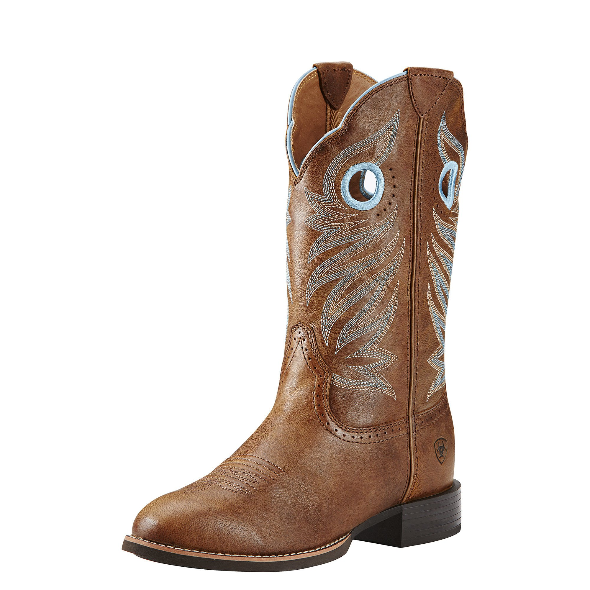 Ariat Women's Round Up Stockman Western Cowboy Boot, Wood, 6 B US