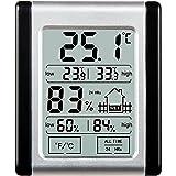[2017 Neuestes] Thermo-Hygrometer, E2Buy® Digitales Touch-LCD-Mini-Thermometer mit magnetischer Rückseite, Temperatur- und Feuchtigkeitsmonitor mit MIN / MAX-Aufzeichnungen