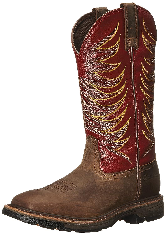 01eecaf34b6 Ariat Men's Workhog Wide Square Toe Tall II Soft Toe Distressed Boot