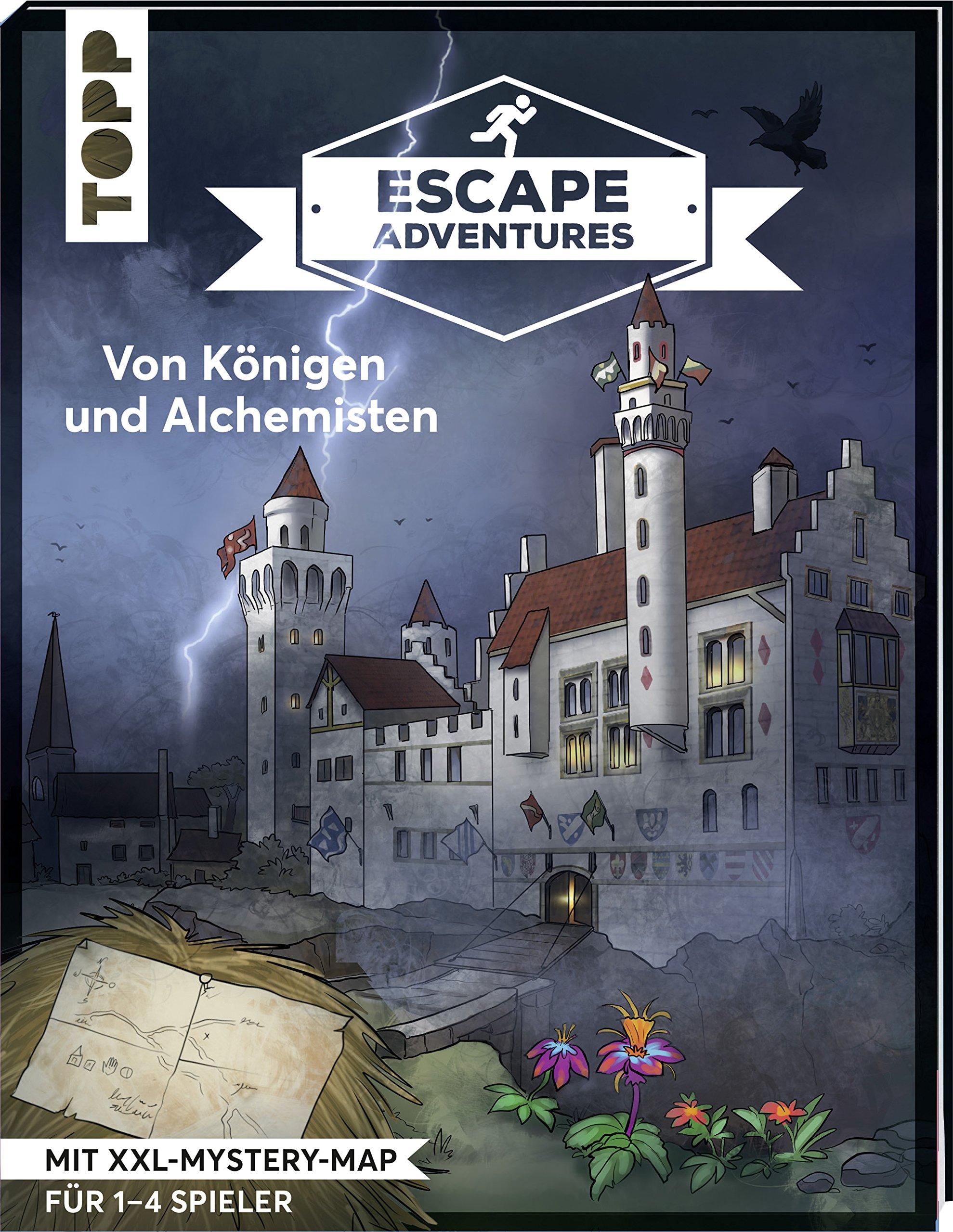 Escape Adventures – Von Königen und Alchemisten: Das ultimative Escape-Room-Erlebnis jetzt auch als Buch! Mit XXL-Mystery-Map für 1-4 Spieler. 90 Minuten Spielzeit
