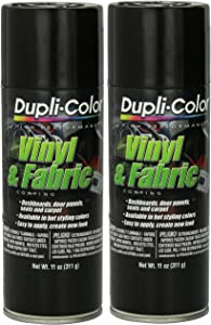 Dupli-Color HVP104 Gloss Black Vinyl & Fabric Coating 11 oz. Aerosol (2 Pack)