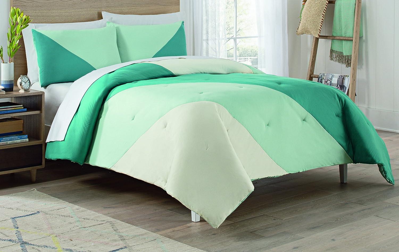 Vue 15977BEDDQUEPCK Beau 90-Inch by 90-Inch 3-Piece Queen Comforter Set Peacock Ellery Homestyles
