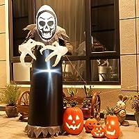TOLEAD 6 pies de Halloween Inflable Ghost, esqueleto inflable con luces LED internas para interior y exterior, decoración de césped…